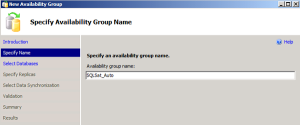 Name your AlwaysOn Availability Group