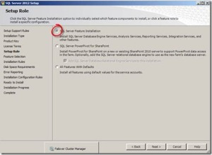 SQL Server Feature Installation