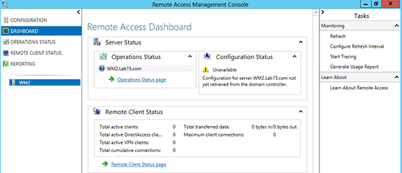 Monitor DirectAccess Server
