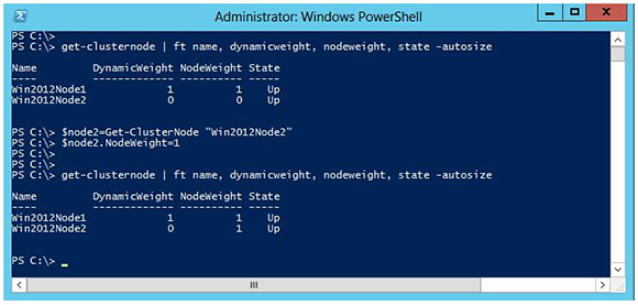 PowerShell cmdlet Get-ClusterNode